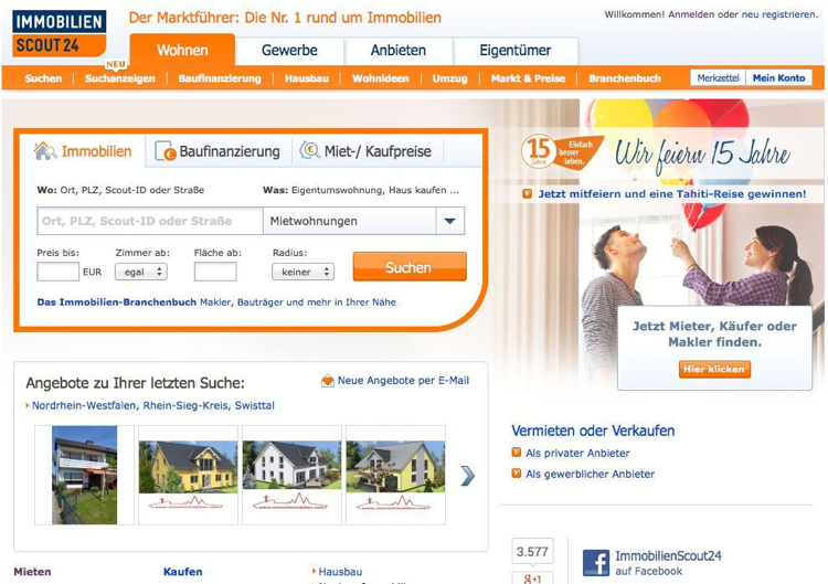 Abbildung Immobilienportal | Web-Business